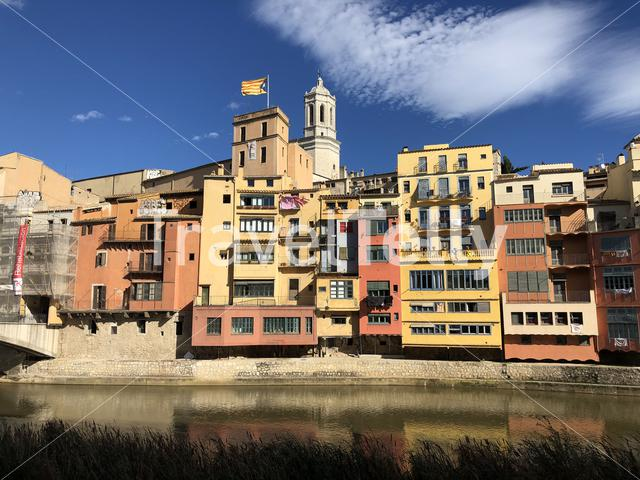 Architecture in Girona, Spain