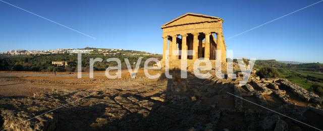Panorama from the Temple of Juno a 5th-century BCE Greek temple in Agrigento, Italy