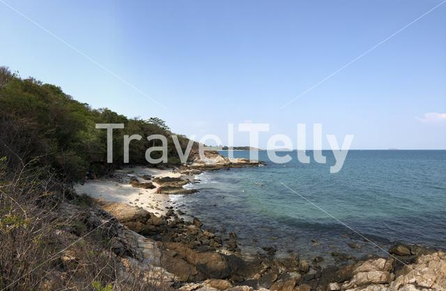 Panoramic view of the coast of the island Koh Samet in Thailand