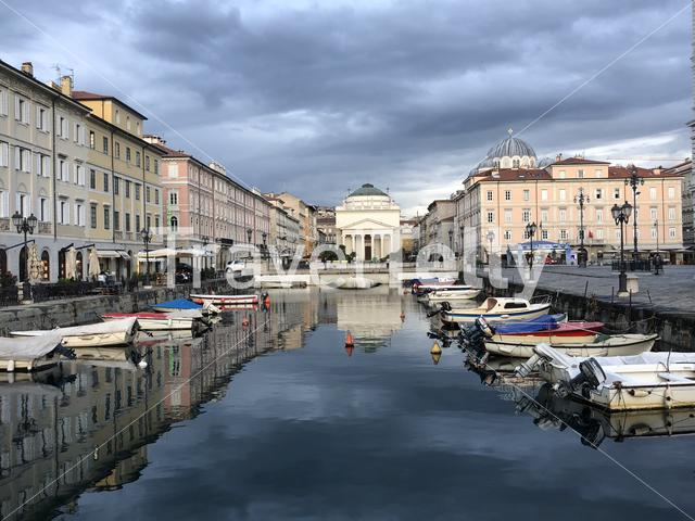 Ponte Rosso in Trieste Italy