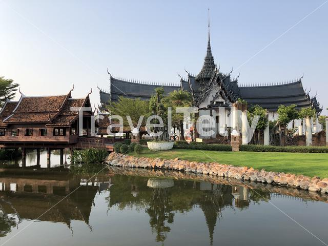 Sanphet Prasat Palace, Ayutthaya at the Ancient Siam, Thailand