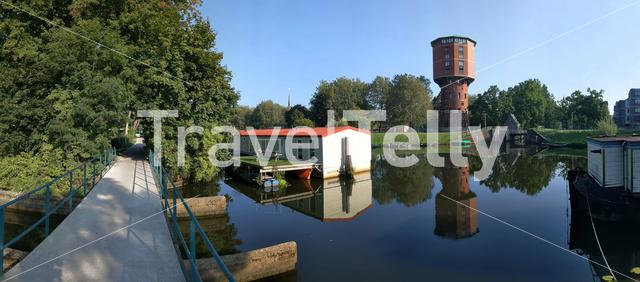 Panoramic view from around the Water tower in Zwolle, The Netherlands