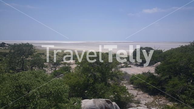 Kubu Island a rock island located in the Makgadikgadi Pan area of Botswana