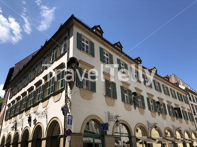 Architecture in the old town of Bamberg Germany