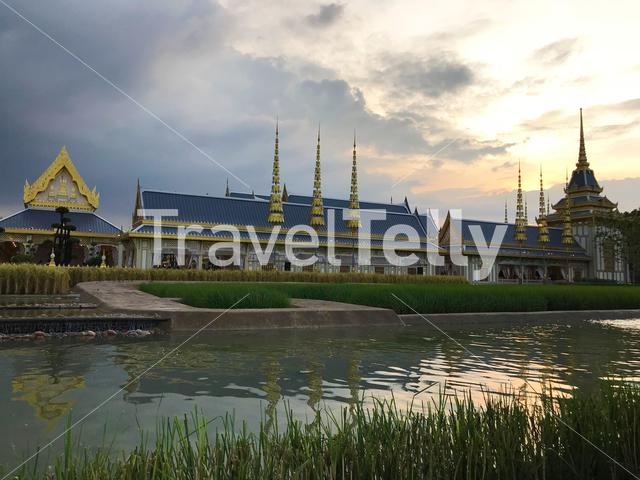 The exhibition of the Royal Crematorium for His Majesty the late King Bhumibol Adulyadej in Bangkok Thailand
