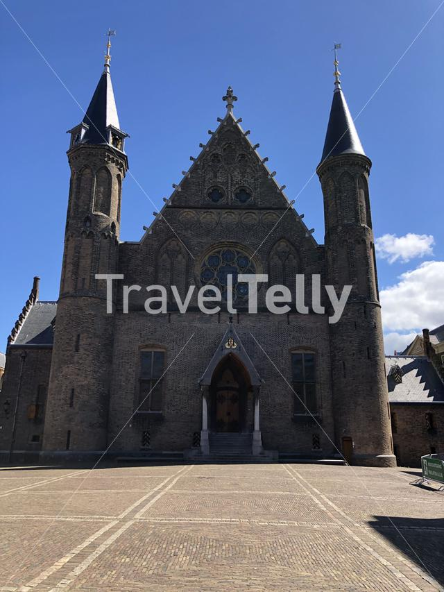 The Gothic Ridderzaal (a great hall, literally Knight's Hall) today forms the centre of the Binnenhof, The Netherlands
