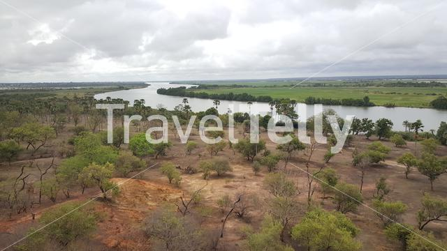 River Gambie through Kahi Badi Forest Park in Gambia, Africa
