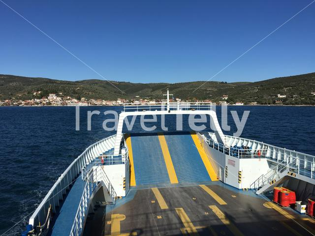 Ferry leaving Glyfa Greece