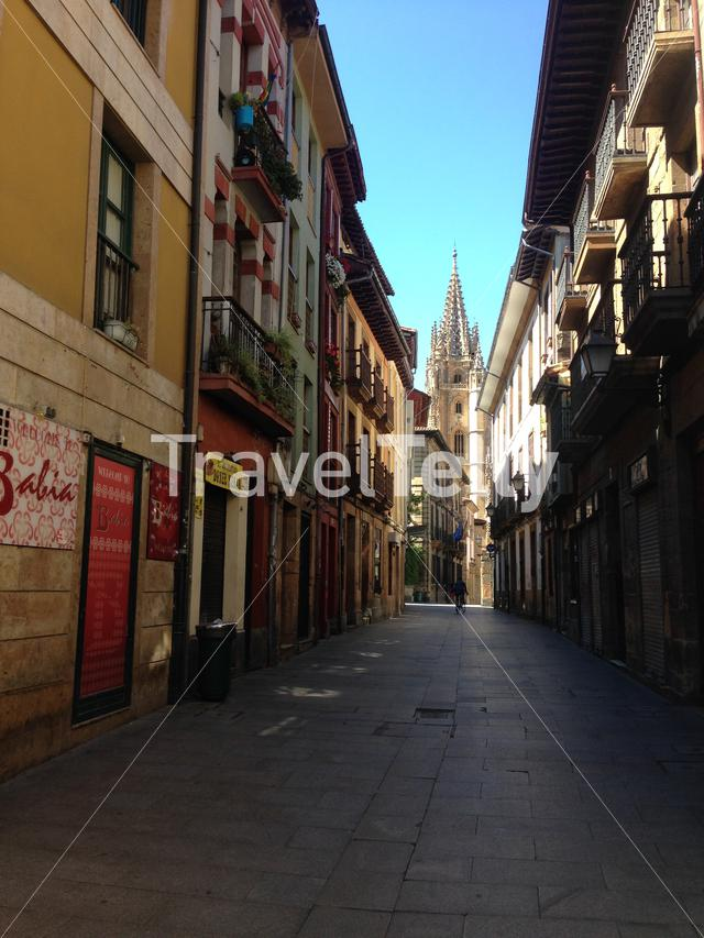 Old town and cathedral of Oviedo
