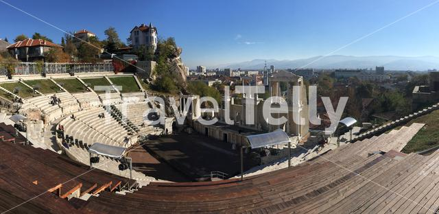 Panorama from the Ancient Theatre in Plovdiv Bulgaria