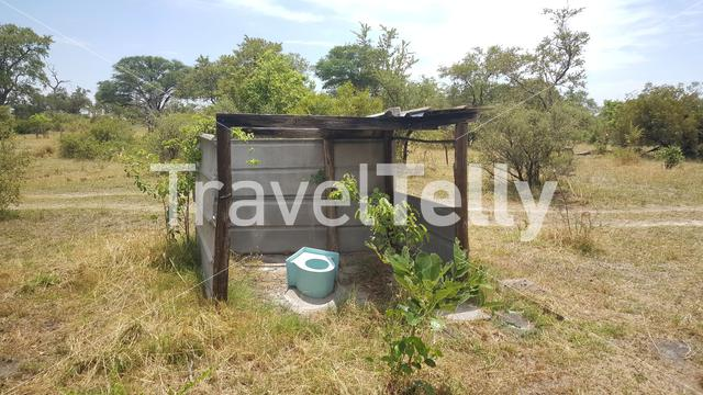 Toilet in the bush of Namibia
