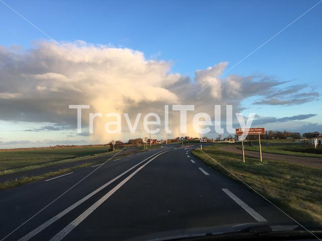 Rain clouds in Friesland The Netherlands