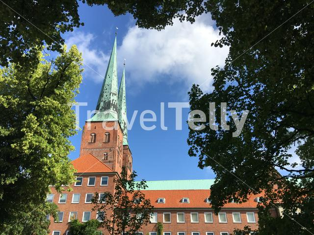Lübeck Cathedral in the old town of Lübeck Germany