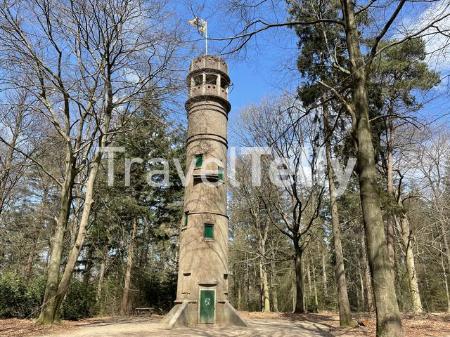 Watchtower on the Lochemse Berg in Gelderland The Netherlands