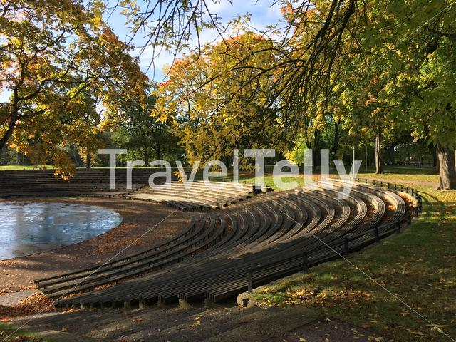 Outside theater during autumn in Parnu Estonia
