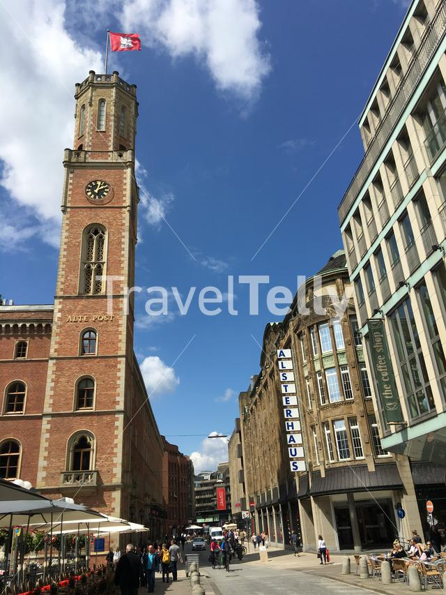 Alte Post Tower in Hamburg, Germany