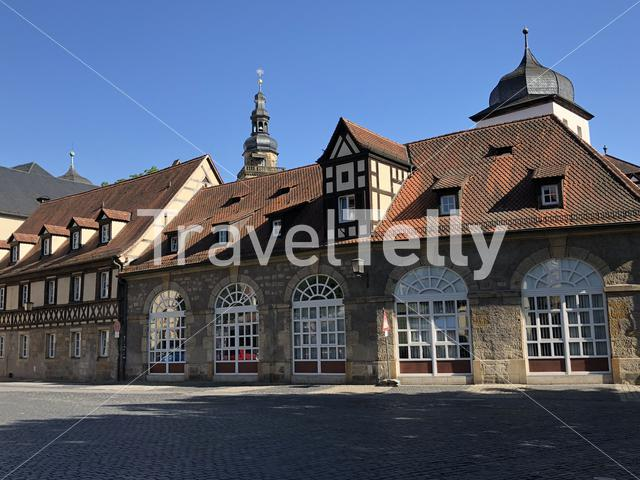 Heumarkt square in Bamberg Germany