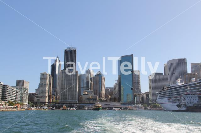Leaving Circular Quay in Sydney Australia