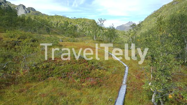 Path through Moysalen National Park Norway