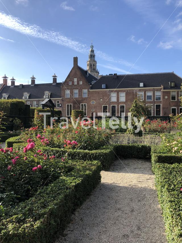 Renaissance-style garden in Groningen The Netherlands