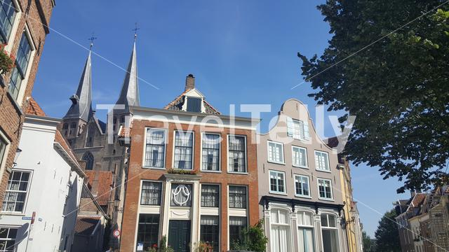 Architecture in the old town of Deventer The Netherlands