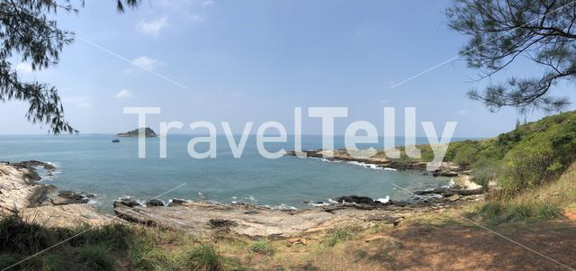 Panorama from the coast of Koh Samed, Thailand