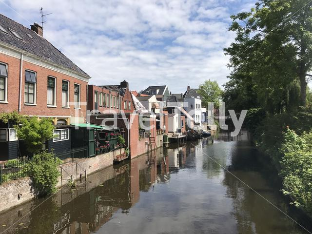 Canal in Appingedam Groningen The Netherlands