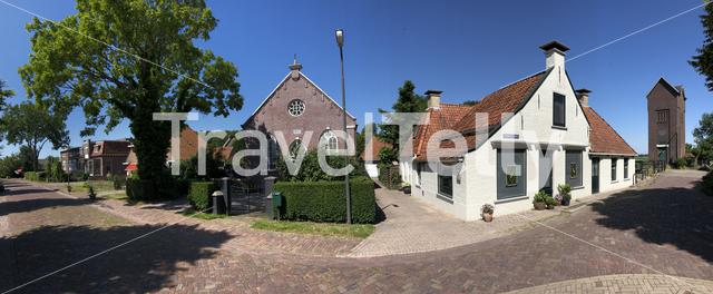 Panorama from housing in Achlum, Friesland The Netherlands