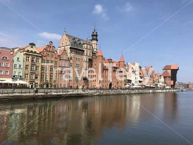 Waterfront in Gdansk Poland