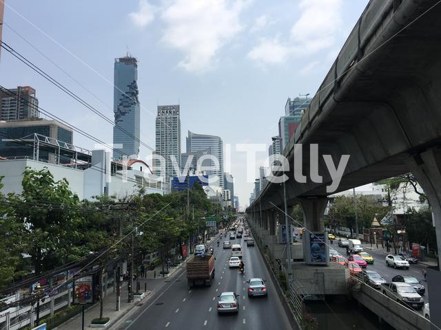 Silom district and road in Bangkok, Thailand