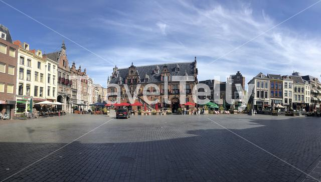 Panorama from the old town market of Nijmegen, Gelderland The Netherlands
