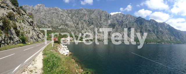 Panorama from a road towards Orahovac in Kotor Bay Montenegro