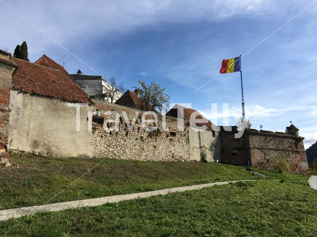 Brasovia Citadel a fortification located on the top of Tampa mountain in Brasov Romania