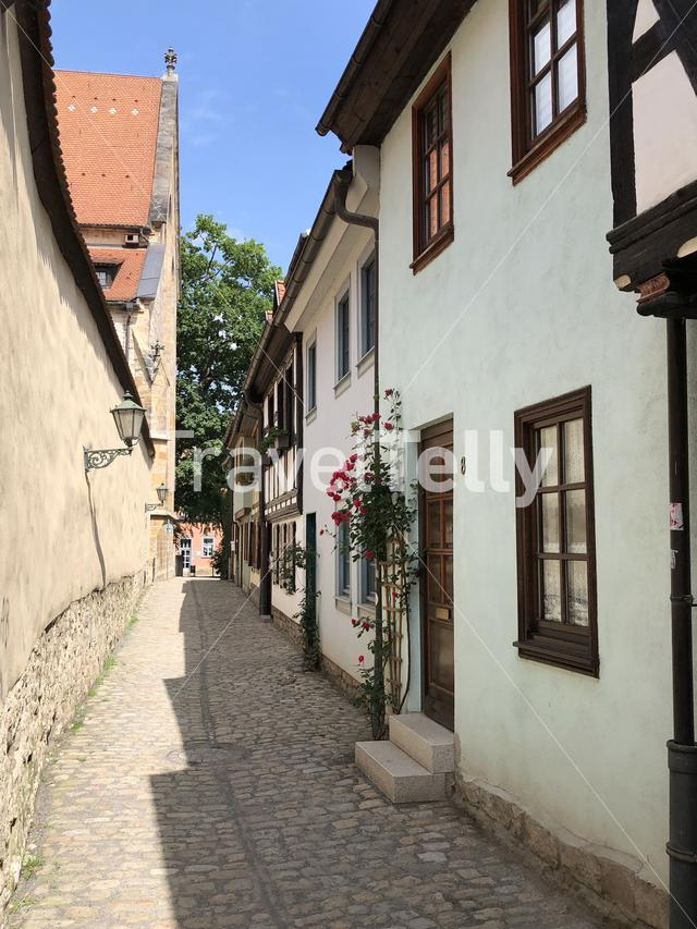 Timber frame houses in the old town of Erfurt Germany