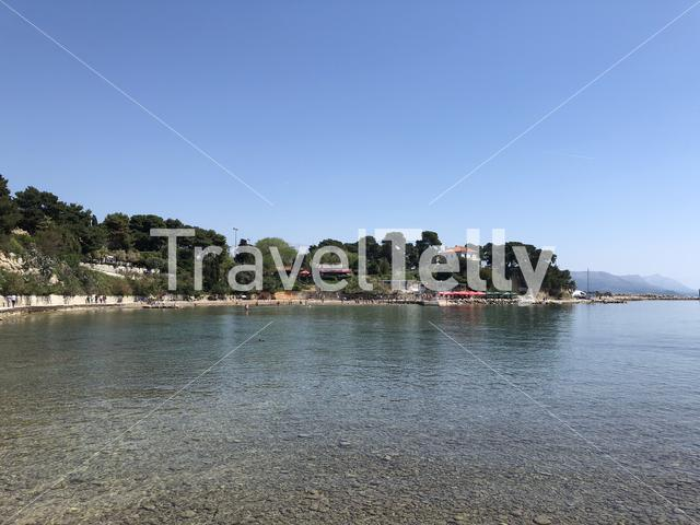 Bacvice bay in Split Croatia