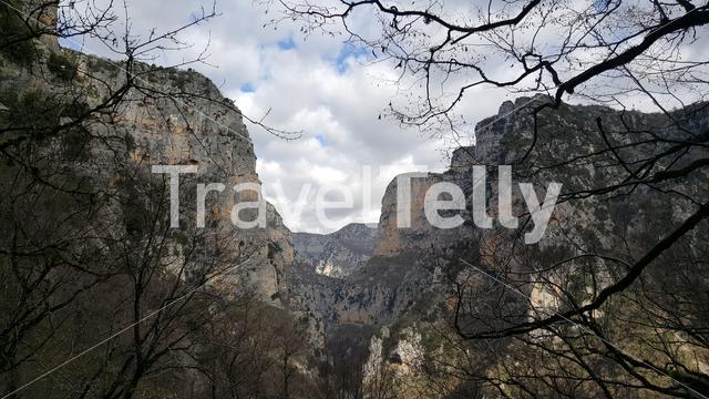 Vikos Gorge in the Pindus Mountains of northern Greece