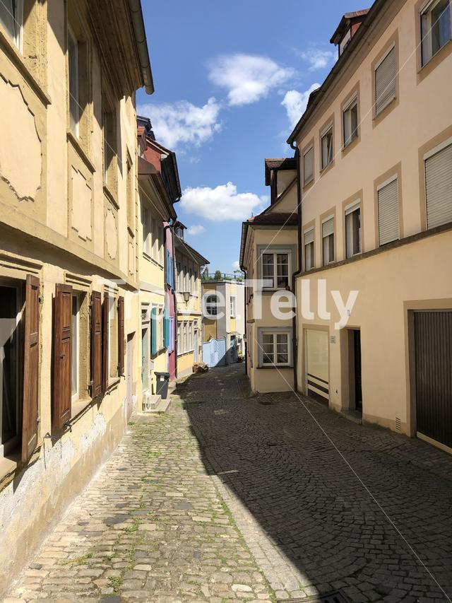 Street in the old town of Bamberg, Germany