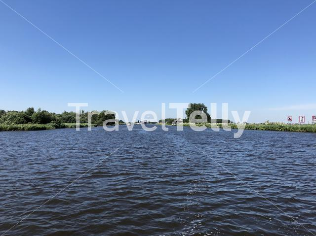 Princess margriet canal in Friesland The Netherlands