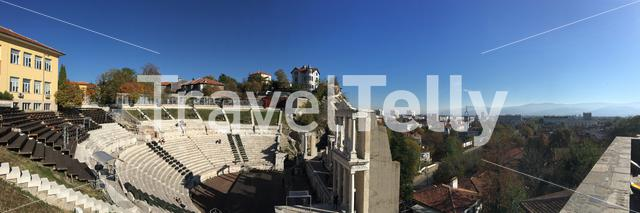 Panorama from the Roman theatre of Plovdiv Bulgaria