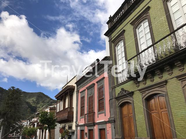 Architecture in the old town of Teror Gran Canaria