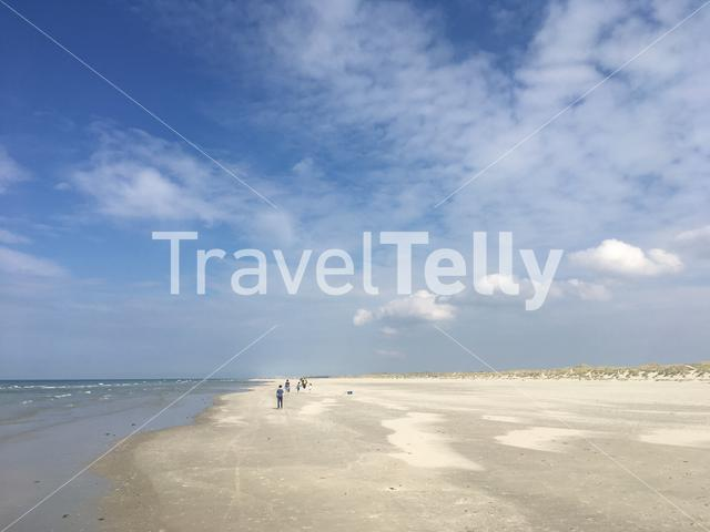People on the beach of Terschelling in The Netherlands