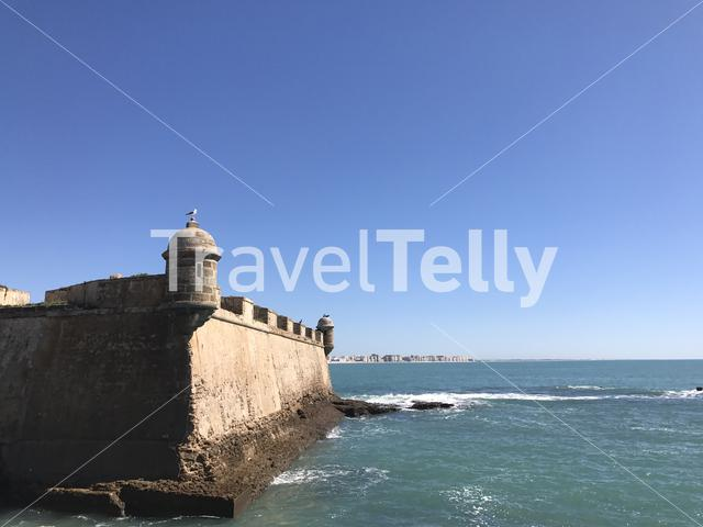 Castle of San Sebastian in Cadiz Spain