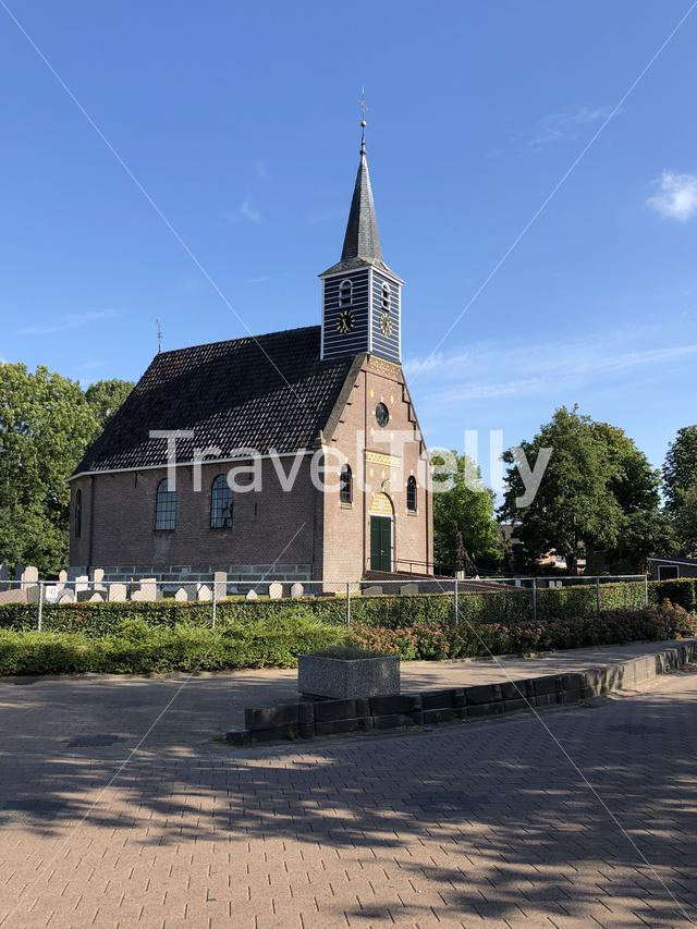 Haskerhorne church in Friesland The Netherlands