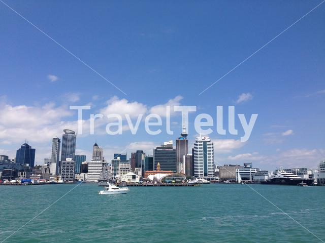 Auckland Skyline from the ferry from Devonport