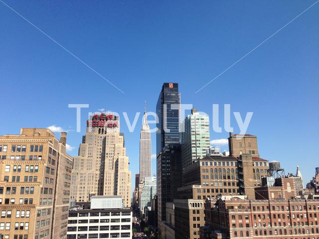 Manhattan skyline with the Empire state in New York City