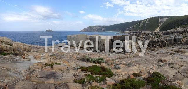 Panorama from the Gap and Natural Bridge a stone formation in Torndirrup National Park Albany Western Australia