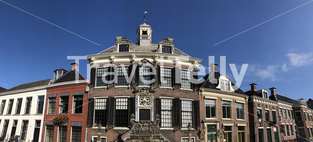 Panorama from the city hall in Sneek, Friesland The Netherlands