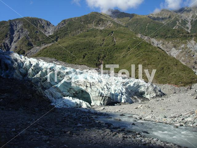 Fox glacier in 2010 New Zealand