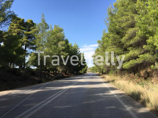 Driving towards Psakoudia in Greece