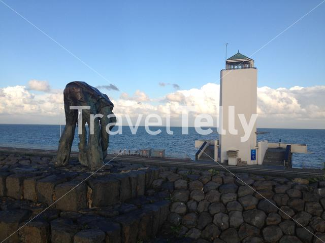 Monument at the Afsluitdijk in The Netherlands
